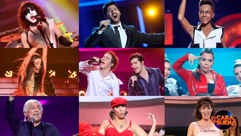 ¡Vota por la mejor actuación de la segunda gala de la octava edición de 'Tu cara me suena'