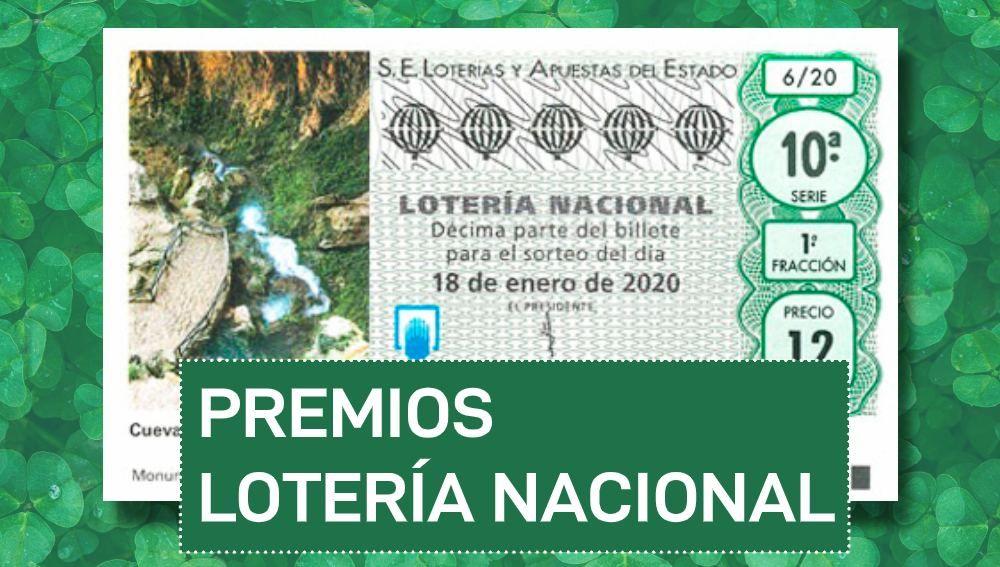 Lotería Nacional hoy: Premios del sorteo especial de la Lotería Nacional del sábado 18 de enero de 2020