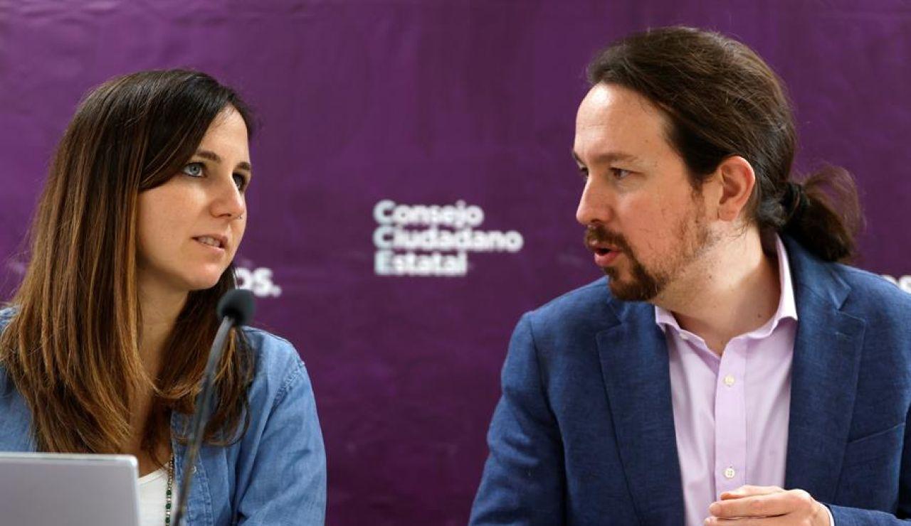 Ione Belarra y Pablo Iglesias