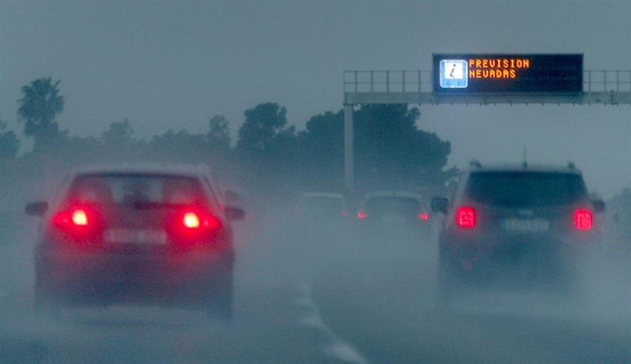 Nieve en las carreteras españolas