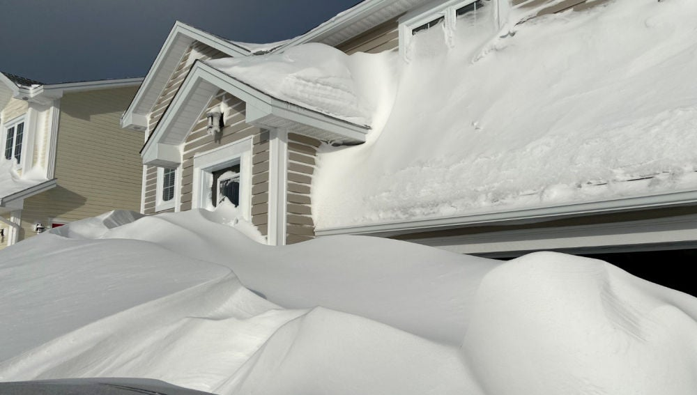 Tormenta de nieve en Canadá
