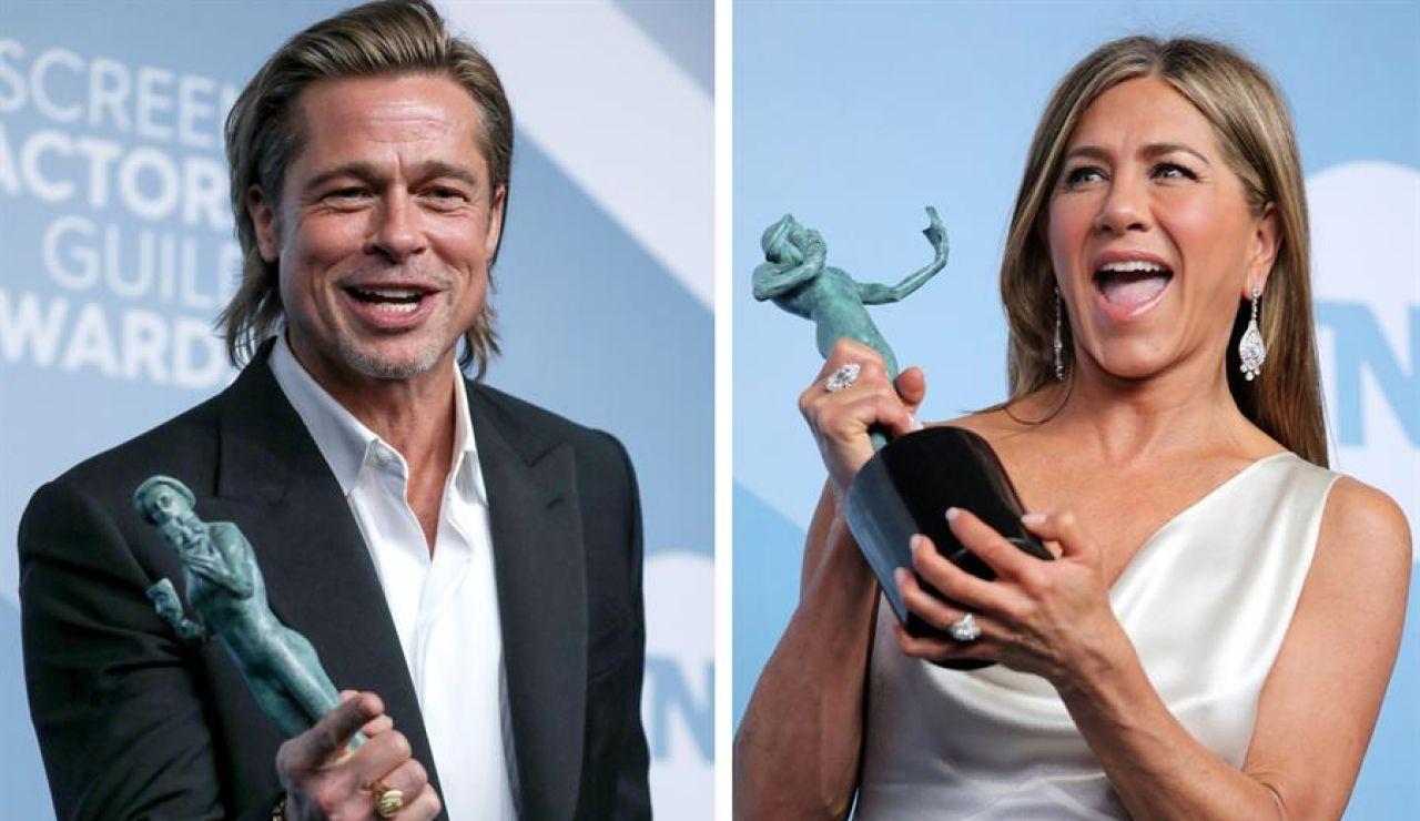 Brad Pitt y Jennifer Aniston protagonizan el reencuentro más esperado en los Premios SAG