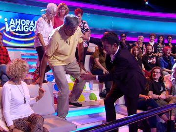 El juego del 'Twister' causa un lesionado en '¡Ahora caigo!'