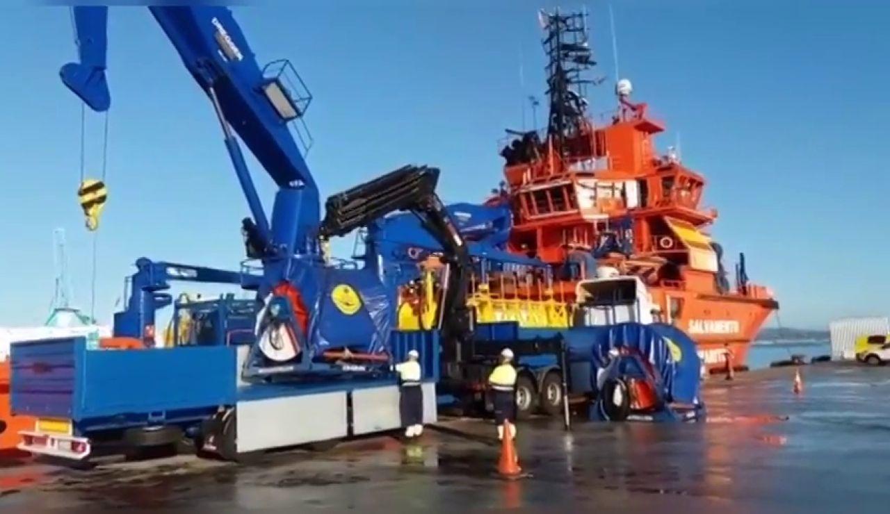 El buque 'Relámago' sustituye al 'Mastelero' y se une a la búsqueda del 'Rúa Mar'