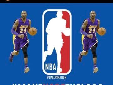 El logo de la NBA con Kobe Bryant