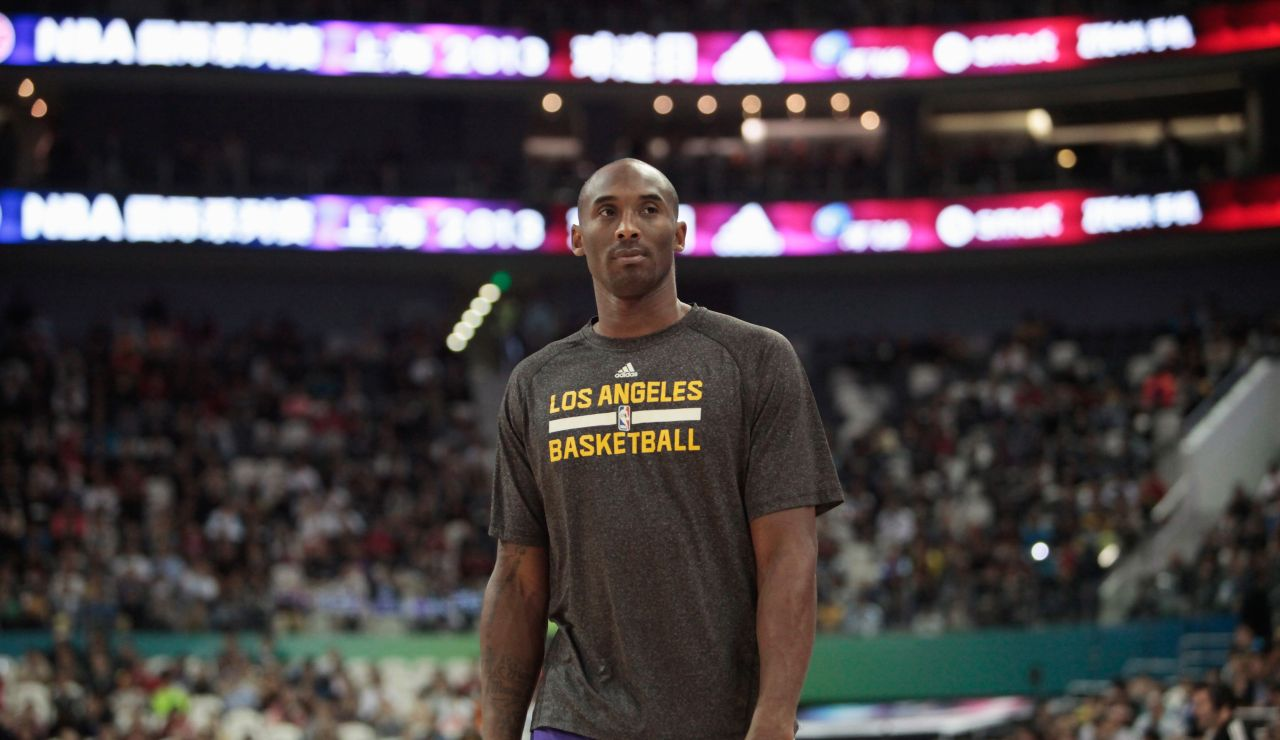 Kobe Bryant, antes de un partido con los Lakers