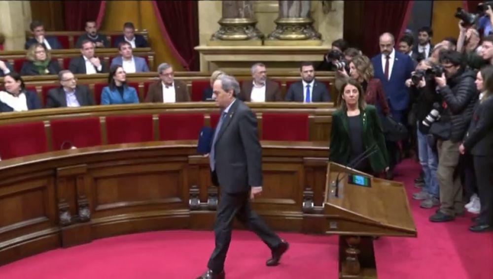 Torra reta al Parlament a que defienda su escaño a pesar de haberlo perdido
