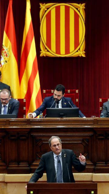 Torra y Torrent en el Parlament
