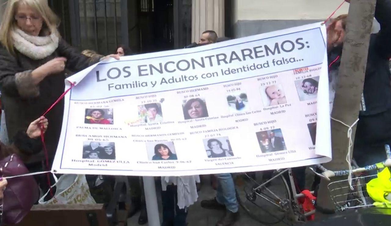Manifestación de las familias de bebés robados