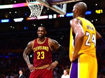 LeBron James y Kobe Bryant