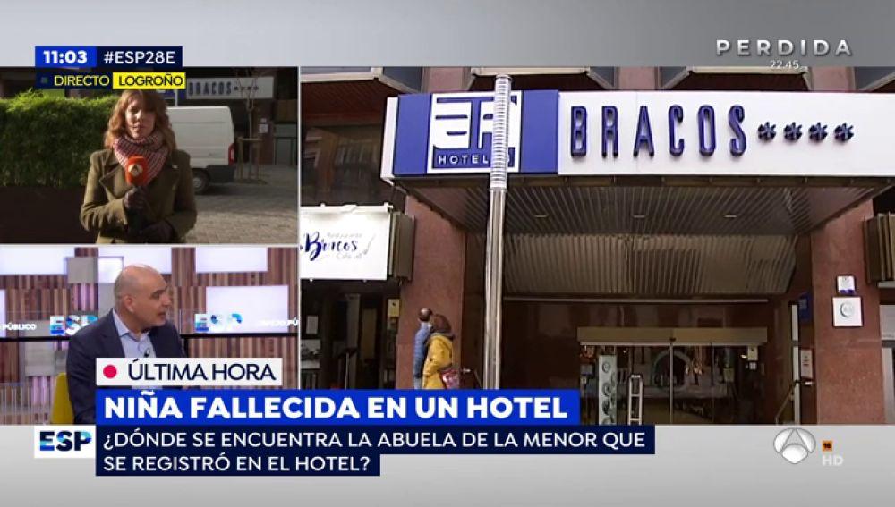 Niña fallecida en un hotel.