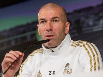 Zinedine Zidane, durante una rueda de prensa.