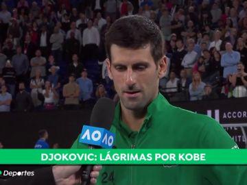 """Djokovic se derrumba al recordar a Kobe Bryant: """"Cuaado necesité sus consejos y su apoyo, él estuvo ahí"""""""