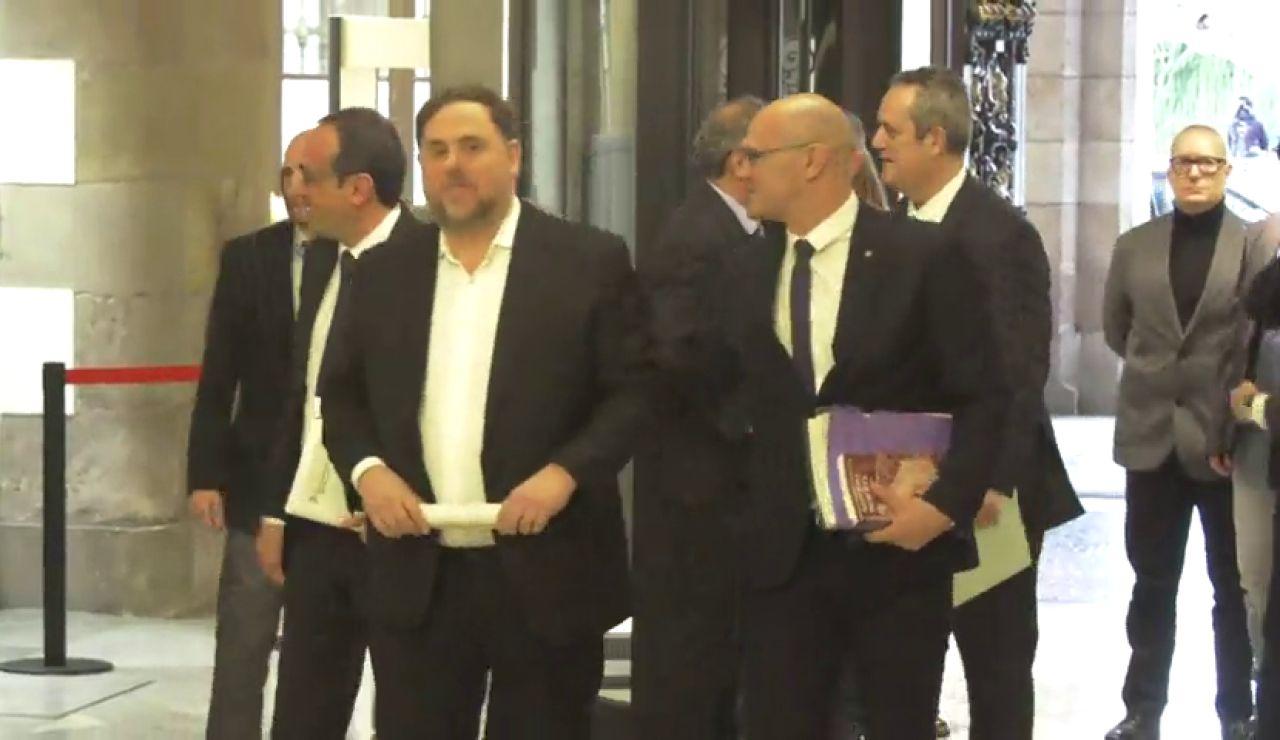 Los exconsejeros presos por el 'procés' hablan del 155 en el Parlament