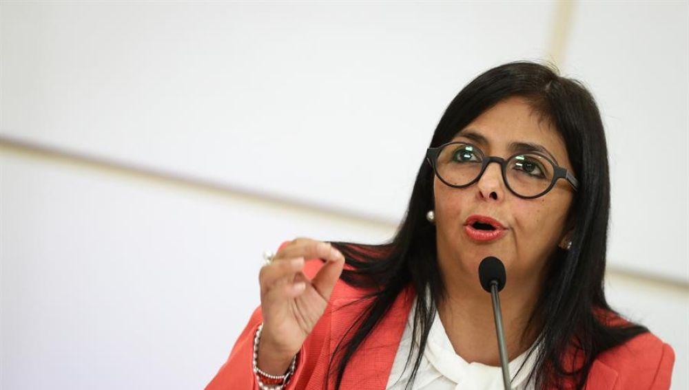 La vicepresidenta de Venezuela Delcy Rodríguez