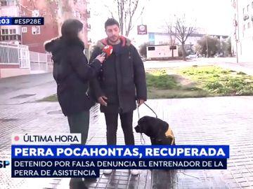 Recuperan a la perra Pocahontas