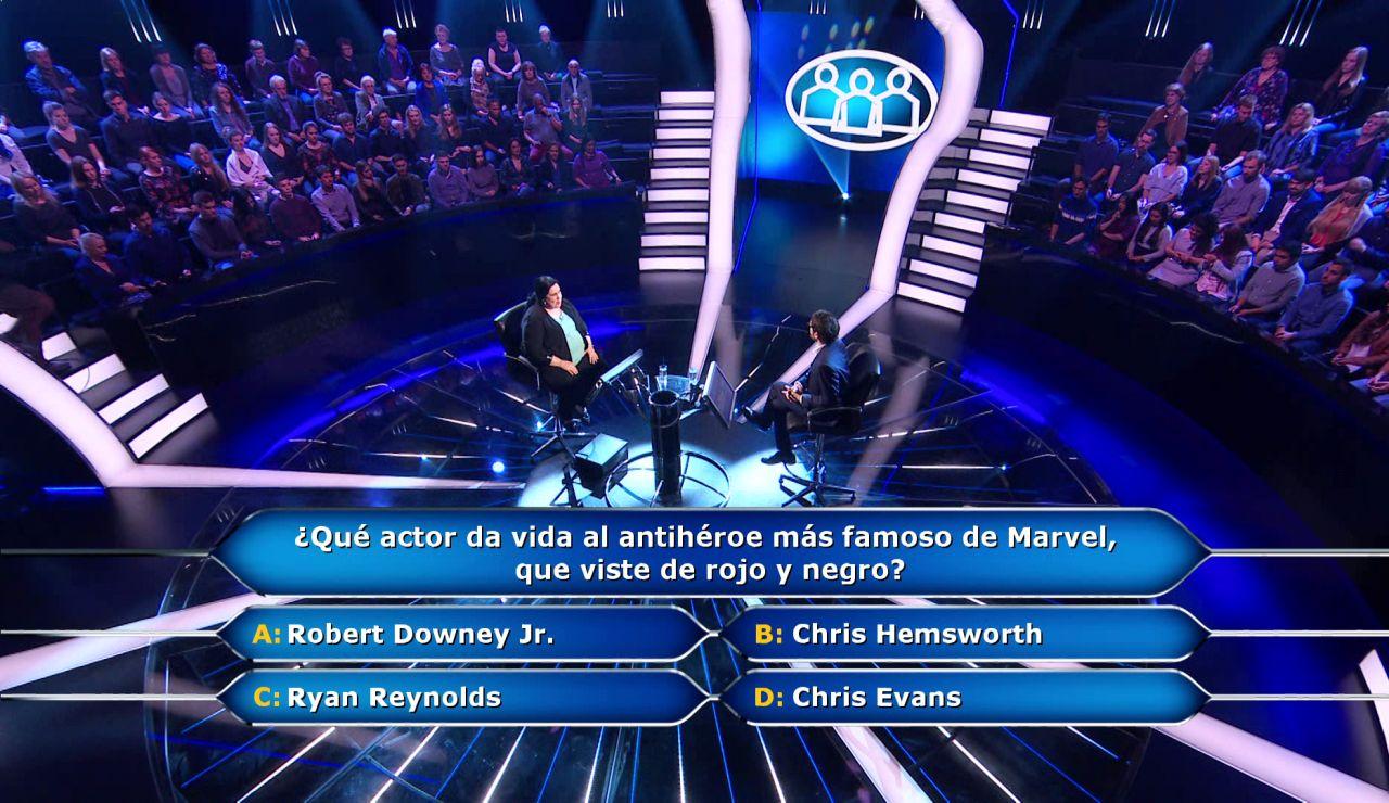 El público se convierte en el superhéroe de Gloria en una pregunta sobre Marvel en '¿Quién quiere ser millonario?'