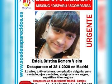 Estela, la joven desaparecida en Barajas