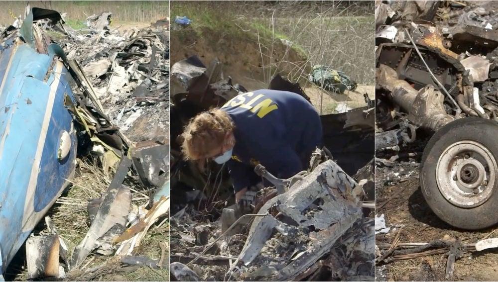 Imágenes de la colina de Calabas donde se estrelló el helicóptero de Kober Bryant