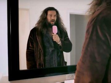Jason Momoa en un anuncio de la Superbowl