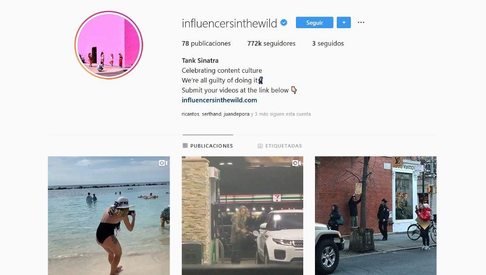 Pantallazo del Instagram de Influencers In The Wild