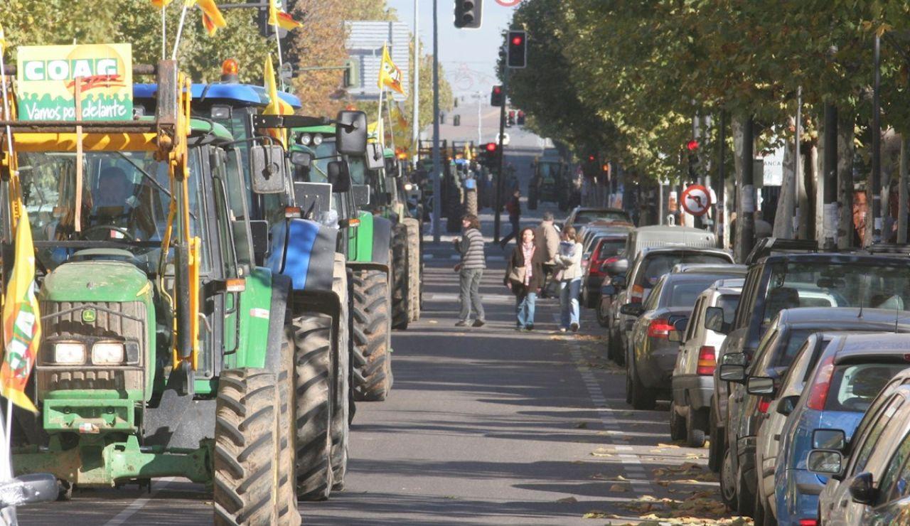 Una tractorada como protesta