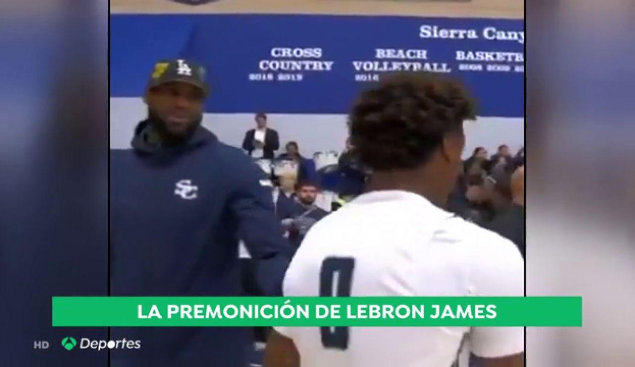 """Las emotivas palabras de Lebron James a Kobe Bryant antes de su muerte: """"Yo he escrito en mis zapatillas Mamba para siempre"""""""