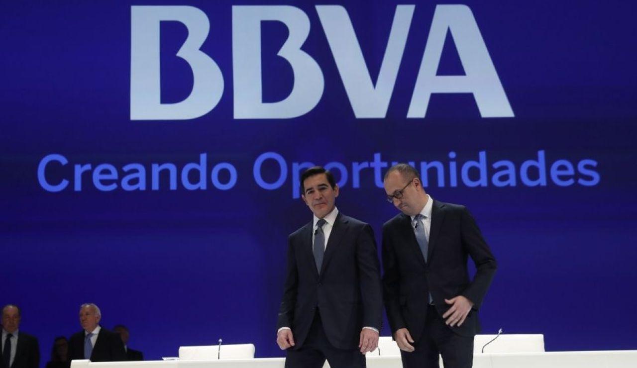 Foto de la junta de BBVA.