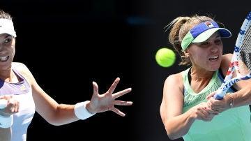 Sofia Kenin - Garbiñe Muguruza, final del Open de Australia