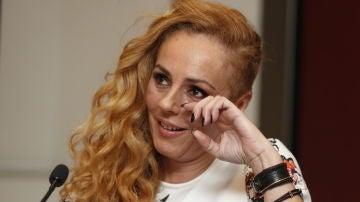 Rocío Carrasco durante la rueda de prensa