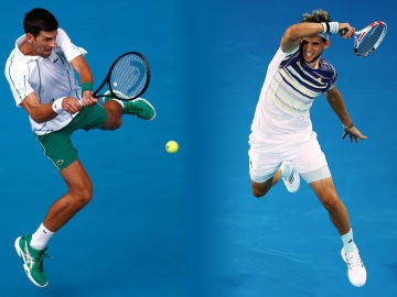 Novak Djokovic y Dominic Thiem disputan la final del Open de Australia