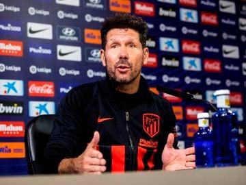 Diego Pablo Simeone, en sala de prensa.