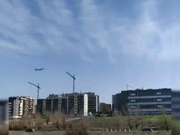 Alarma en Madrid al avistarse un avión de Air Canada a 850 metros de altura