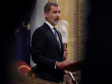 Felipe VI en la apertura de las Cortes