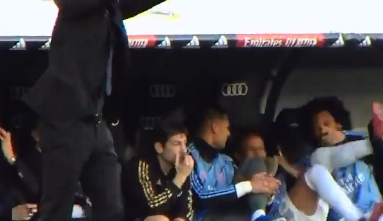 Marcelo y Militao durante el Real Madrid - Atlético de Madrid