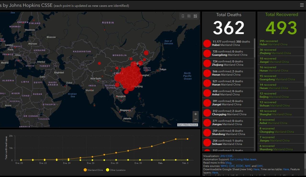 Mapa casos coronavirus