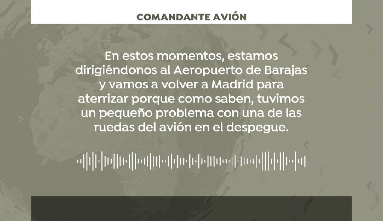 """El audio del comandante de Air Canadá a los pasajeros: """"Mucha calma y mucha paciencia"""""""
