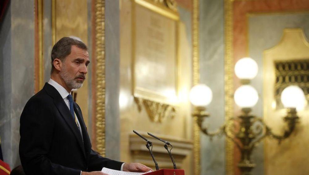 Felipe VI en la apertura de la Legislatura