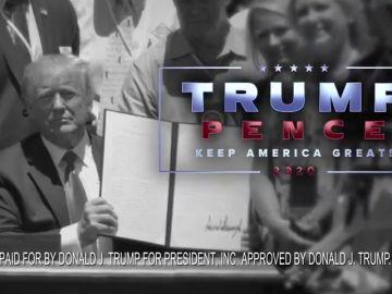 Donald Trump aprovecha la Super Bowl para lanzar un anuncio promocionado su reelección