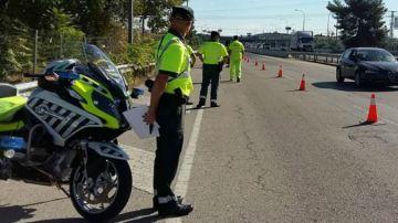 Control de carretera de la Guardia Civil
