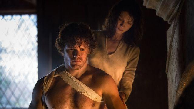 Caitriona Balfe y Sam Heughan en 'Outlander'