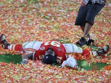 Derrick Nnadi tras ganar la Super Bowl