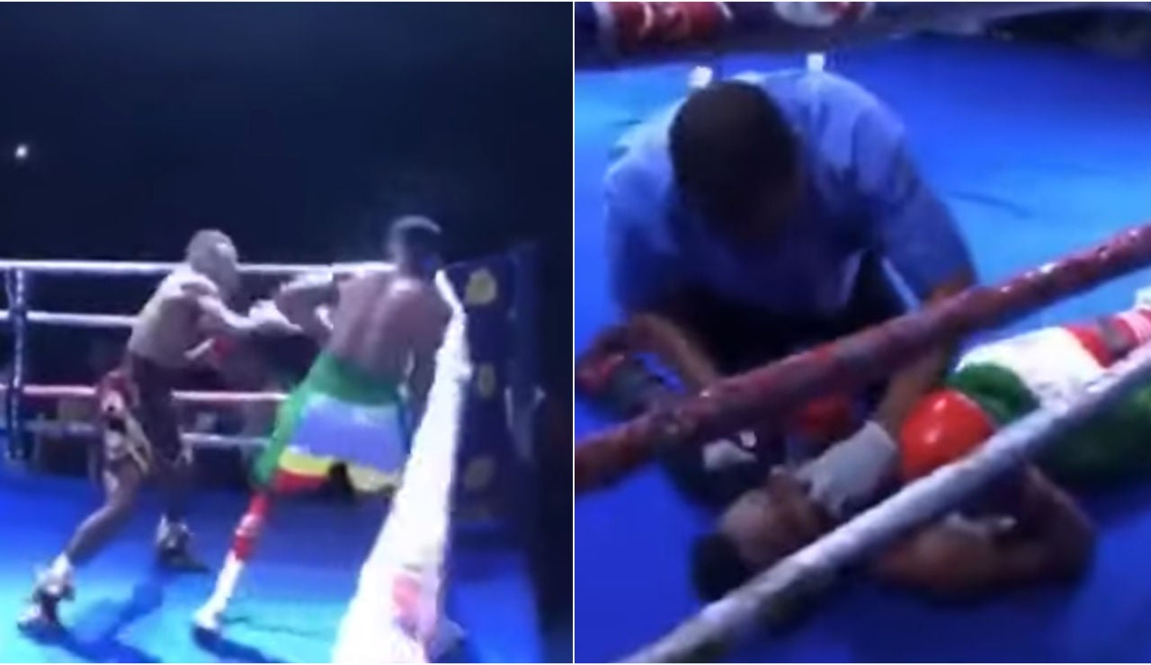 El brutal 'ko' de Mohammed Wasiru a John Amuzu