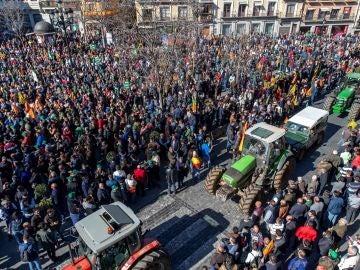 Protesta de los agricultores en Toledo