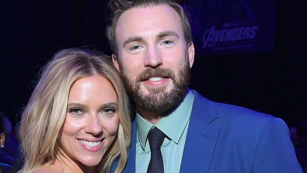 Scarlett Johansson y Chris Evans en la premiere de 'Vengadores: Endgame'