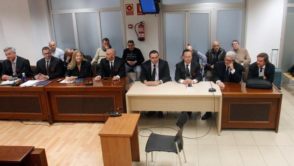 Los acusados en el caso Polop