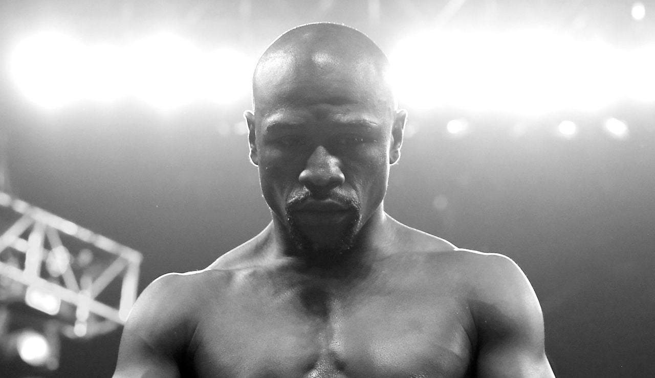Floyd Maywheather durante un combate