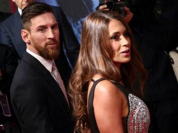 Leo Messi y su mujer Antonella Roccuzzo