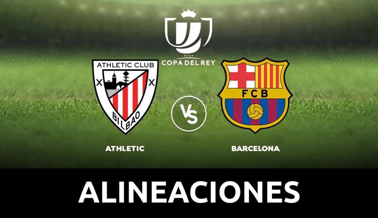 Athletic - Barcelona: Alineaciones y dónde ver el partido de la Copa del Rey 2020 en directo