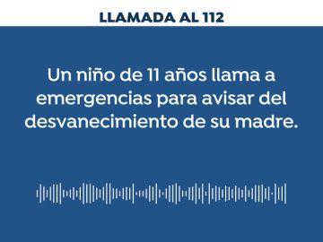 REEMPLAZO: Un niño de 11 años pide ayuda al 112 porque su madre se ha desmayado